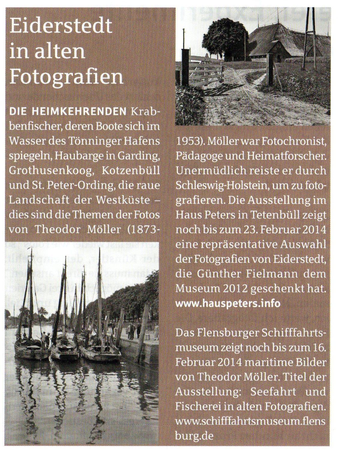 Aktion Sparkasse, Nr. 35/Winter 2013, Theodor Möller