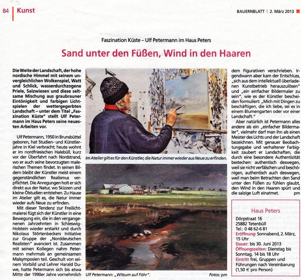 Dithmarscher Landeszeitung vom 1.3.2013, Elko Laubeck