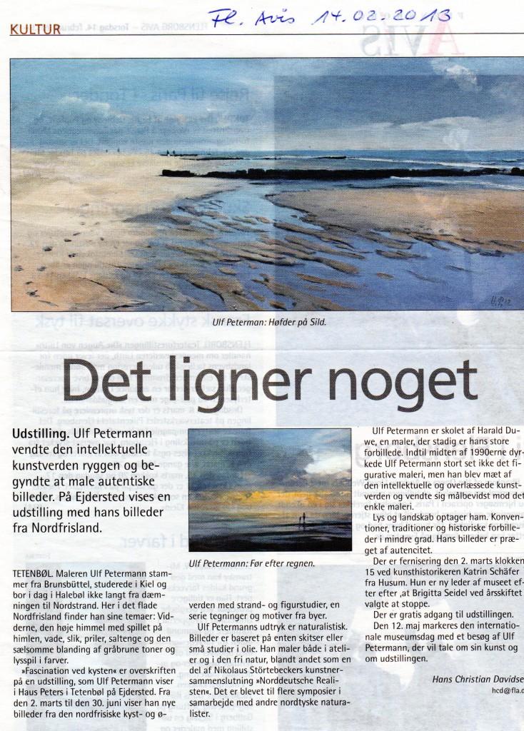 Flensborg Avis vom 14.2.2013