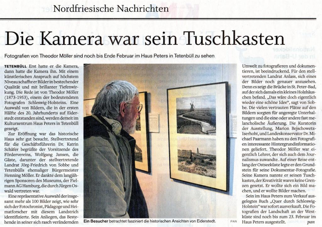 Husumer Nachrichten vom 20.11.2013, Theodor Möller