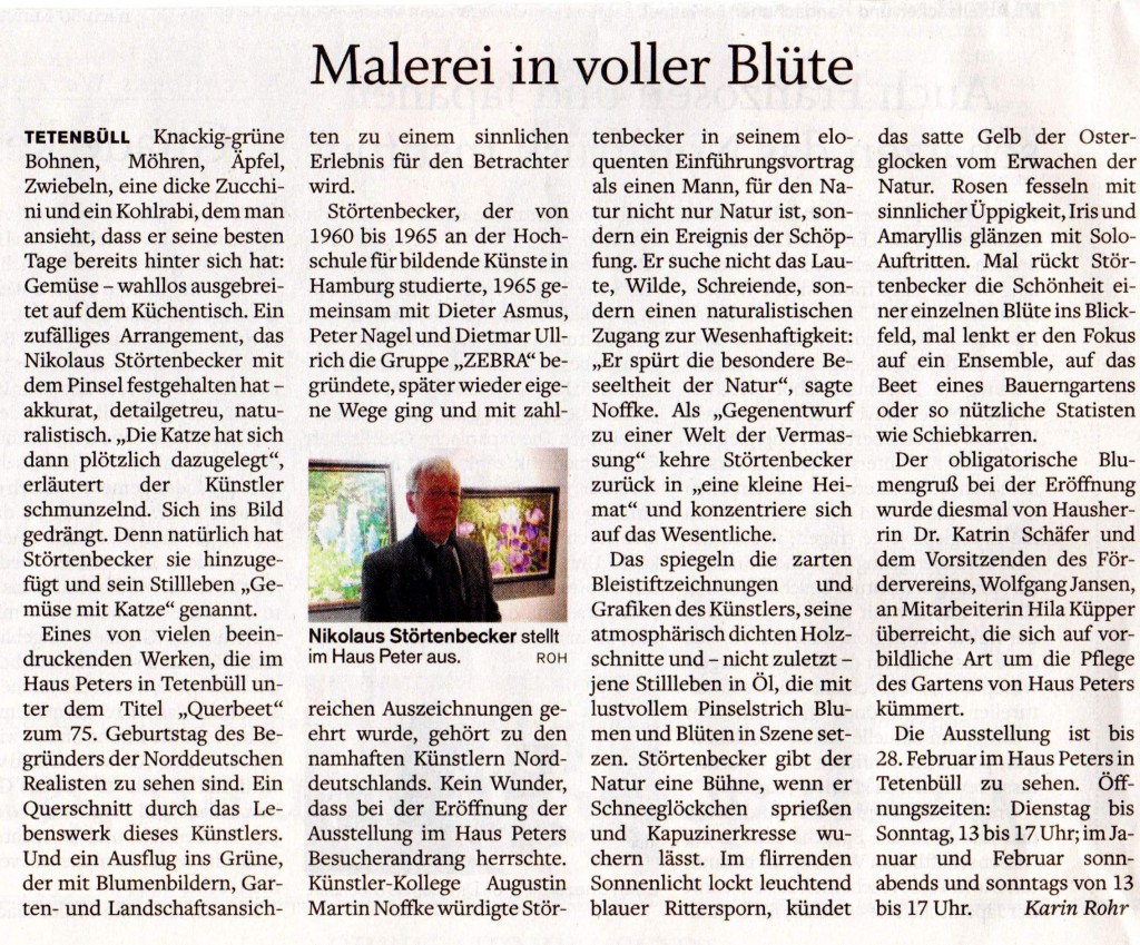 Husumer Nachrichten, 31.10.2015, Nikolaus Störtenbecker