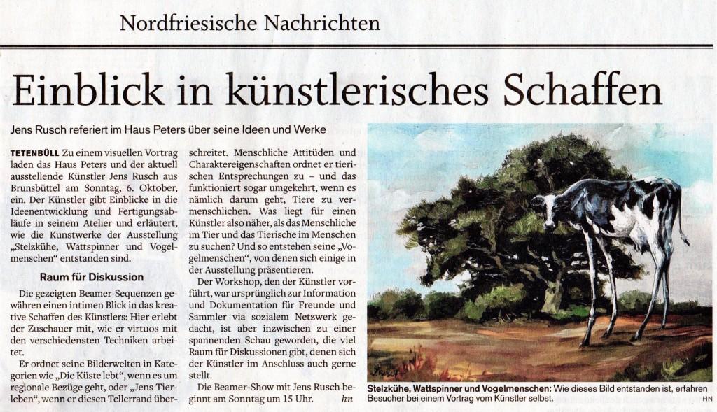 Husumer Nachrichten, Jens Rusch, Beamer-Show