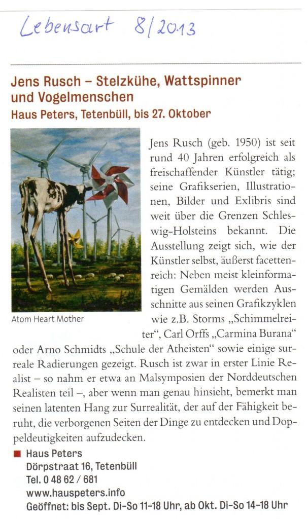 Lebensart, August 2013