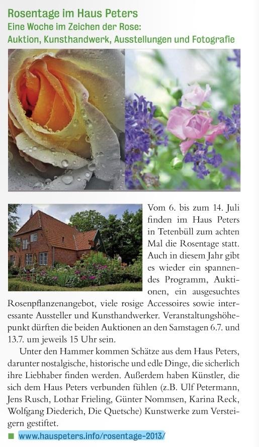 "Lebensart Juli 2013 ""Rosentage"""