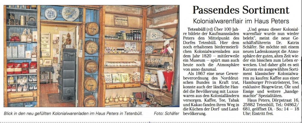 Dithmarscher Landeszeitung vom 13.4.2013