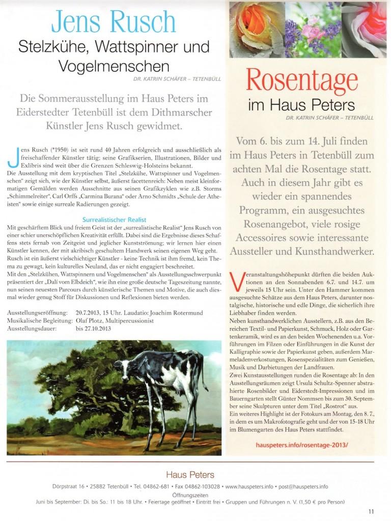 Strandpost Juli 2013, Rusch, Rosentage