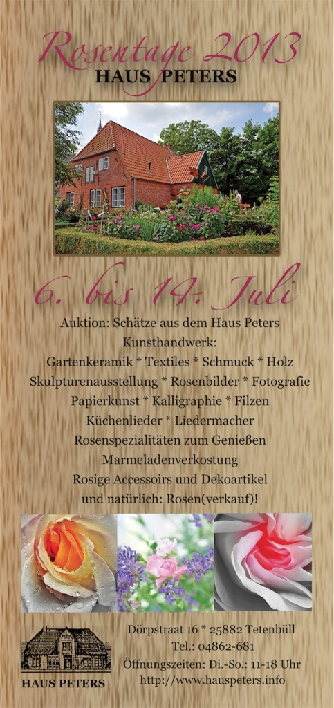 Rosentage, Haus Peters, Flyer, 6.-14 Juli