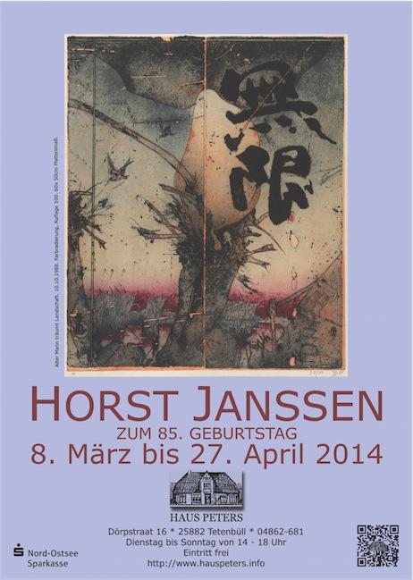 Horst Janssen zum 85. Geburtstag im Haus Peters, Tetenbüll